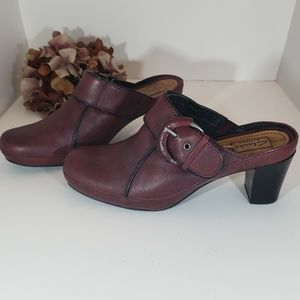 Clarks Cordovan Leather Clogs Mule 7.5